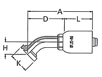 45º Elbow Split Flange Code 62