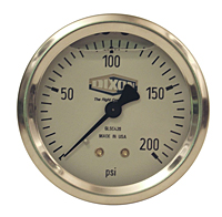 Liquid Filled Stainless Case Gauges
