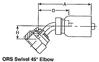 ORS Swivel 45º Elbow