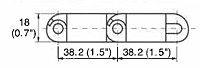 M3843 Tight Radius Dimensions