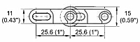 M2540 Roller Top Dimensions