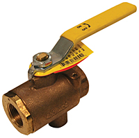 Ball Valve with Tap for Drain