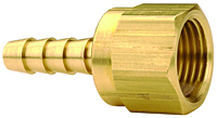 Brass Female 45o SAE Swivel x Hose Barb
