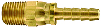 Brass Male NPTF Swivel x hose barb