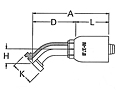 45º Elbow Split Flange Code 61