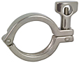 Single Pin Heavy Duty Clamp w/ Cross Hole Wing Nut