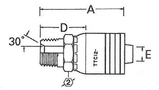 Male Pipe (MP) TTC12 Fittings