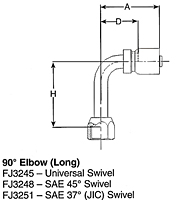 90º Elbow (Long)