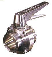 Trigger Handle Clamp End Butterfly Valve