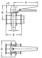 Diagram Trigger Handle Clamp End Butterfly Valve
