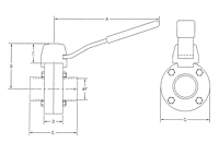 Diagram B5104 Weld End Butterfly Valve