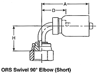 ORS Swivel 90º Elbow (Short)