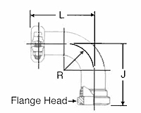 90º Flange Head Elbow for Inch-Size Tube-2