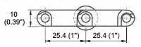 M2533 Roller Top 1 in Dimensions