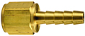 Brass Barbed Solid Female Insert
